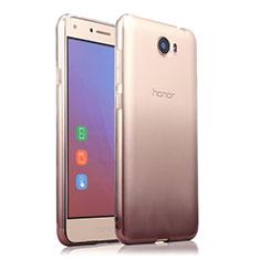 Cover Silicone Trasparente Ultra Sottile Morbida Sfumato per Huawei Honor Play 5 Grigio