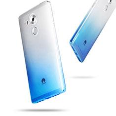 Cover Silicone Trasparente Ultra Sottile Morbida Sfumato per Huawei Mate 8 Blu