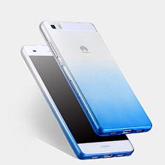 Cover Silicone Trasparente Ultra Sottile Morbida Sfumato per Huawei P8 Lite Blu