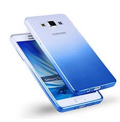 Cover Silicone Trasparente Ultra Sottile Morbida Sfumato per Samsung Galaxy A5 Duos SM-500F Blu
