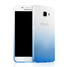 Cover Silicone Trasparente Ultra Sottile Morbida Sfumato per Samsung Galaxy A7 (2016) A7100 Blu