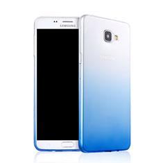 Cover Silicone Trasparente Ultra Sottile Morbida Sfumato per Samsung Galaxy A9 Pro (2016) SM-A9100 Blu