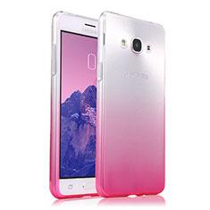 Cover Silicone Trasparente Ultra Sottile Morbida Sfumato per Samsung Galaxy J3 Pro (2016) J3110 Rosa