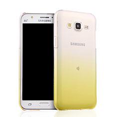 Cover Silicone Trasparente Ultra Sottile Morbida Sfumato per Samsung Galaxy J5 SM-J500F Giallo