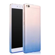 Cover Silicone Trasparente Ultra Sottile Morbida Sfumato per Xiaomi Mi 5C Blu