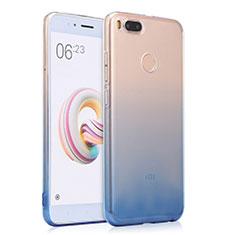 Cover Silicone Trasparente Ultra Sottile Morbida Sfumato per Xiaomi Mi 5X Blu