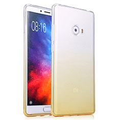 Cover Silicone Trasparente Ultra Sottile Morbida Sfumato per Xiaomi Mi Note 2 Special Edition Giallo