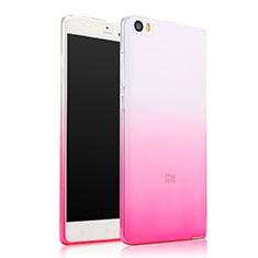 Cover Silicone Trasparente Ultra Sottile Morbida Sfumato per Xiaomi Mi Note Rosa