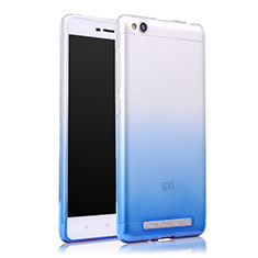 Cover Silicone Trasparente Ultra Sottile Morbida Sfumato per Xiaomi Redmi 3 Blu