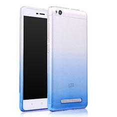 Cover Silicone Trasparente Ultra Sottile Morbida Sfumato per Xiaomi Redmi 4A Blu