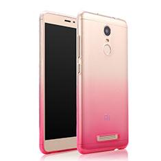 Cover Silicone Trasparente Ultra Sottile Morbida Sfumato per Xiaomi Redmi Note 3 MediaTek Rosa