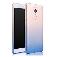 Cover Silicone Trasparente Ultra Sottile Morbida Sfumato per Xiaomi Redmi Note 4X Blu