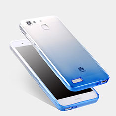 Cover Silicone Trasparente Ultra Sottile Morbida Sfumato Q01 per Huawei Enjoy 5S Blu