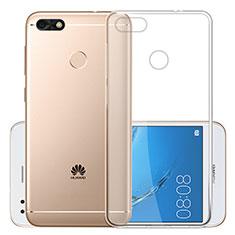 Cover Silicone Trasparente Ultra Sottile Morbida T01 per Huawei Enjoy 7 Chiaro