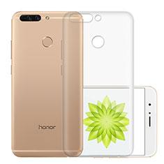 Cover Silicone Trasparente Ultra Sottile Morbida T01 per Huawei Honor 8 Pro Chiaro