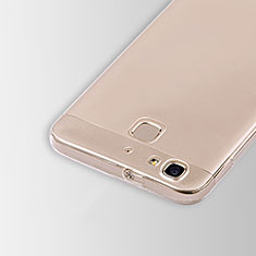 Cover Silicone Trasparente Ultra Sottile Morbida T01 per Huawei P8 Lite Smart Chiaro