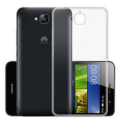 Cover Silicone Trasparente Ultra Sottile Morbida T01 per Huawei Y6 Pro Chiaro