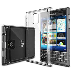 Cover Silicone Trasparente Ultra Sottile Morbida T02 per Blackberry Passport Q30 Chiaro