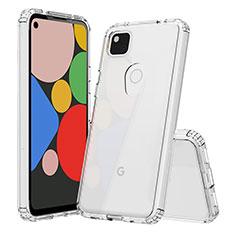 Cover Silicone Trasparente Ultra Sottile Morbida T02 per Google Pixel 4a Chiaro