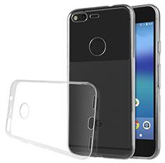 Cover Silicone Trasparente Ultra Sottile Morbida T02 per Google Pixel XL Chiaro
