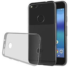 Cover Silicone Trasparente Ultra Sottile Morbida T02 per Google Pixel XL Grigio