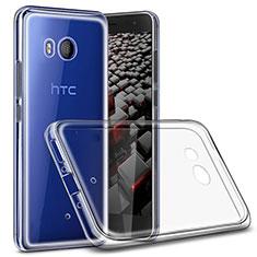 Cover Silicone Trasparente Ultra Sottile Morbida T02 per HTC U11 Chiaro