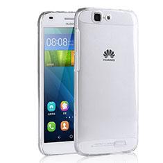 Cover Silicone Trasparente Ultra Sottile Morbida T02 per Huawei Ascend G7 Chiaro