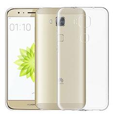 Cover Silicone Trasparente Ultra Sottile Morbida T02 per Huawei G8 Chiaro