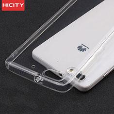 Cover Silicone Trasparente Ultra Sottile Morbida T02 per Huawei Honor 4C Chiaro