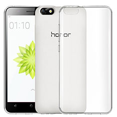 Cover Silicone Trasparente Ultra Sottile Morbida T02 per Huawei Honor 4X Chiaro