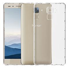 Cover Silicone Trasparente Ultra Sottile Morbida T02 per Huawei Honor 7 Chiaro