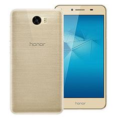 Cover Silicone Trasparente Ultra Sottile Morbida T02 per Huawei Honor Play 5 Chiaro