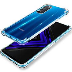 Cover Silicone Trasparente Ultra Sottile Morbida T02 per Huawei Honor Play4 5G Chiaro