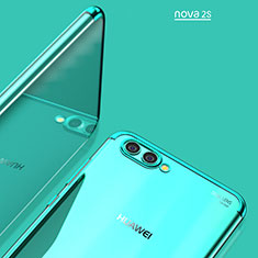 Cover Silicone Trasparente Ultra Sottile Morbida T02 per Huawei Nova 2S Blu