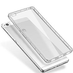 Cover Silicone Trasparente Ultra Sottile Morbida T02 per Huawei P8 Chiaro