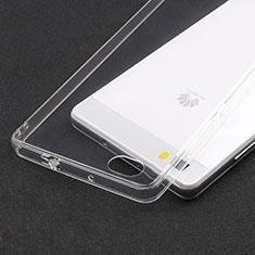 Cover Silicone Trasparente Ultra Sottile Morbida T02 per Huawei P8 Lite Chiaro