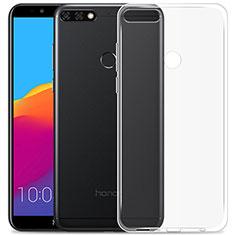 Cover Silicone Trasparente Ultra Sottile Morbida T02 per Huawei Y7 (2018) Chiaro