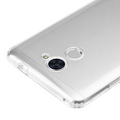 Cover Silicone Trasparente Ultra Sottile Morbida T02 per Huawei Y7 Prime Chiaro