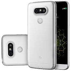 Cover Silicone Trasparente Ultra Sottile Morbida T02 per LG G5 Chiaro