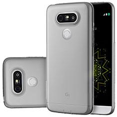 Cover Silicone Trasparente Ultra Sottile Morbida T02 per LG G5 Grigio
