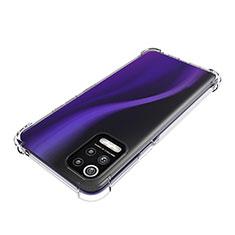 Cover Silicone Trasparente Ultra Sottile Morbida T02 per LG Q52 Chiaro