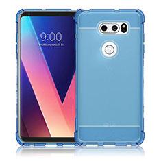 Cover Silicone Trasparente Ultra Sottile Morbida T02 per LG V30 Blu