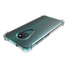 Cover Silicone Trasparente Ultra Sottile Morbida T02 per Nokia 6.2 Chiaro