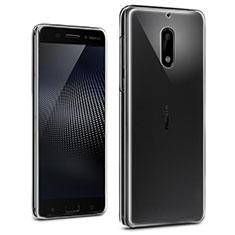 Cover Silicone Trasparente Ultra Sottile Morbida T02 per Nokia 6 Chiaro