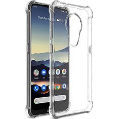 Cover Silicone Trasparente Ultra Sottile Morbida T02 per Nokia 7.2 Chiaro