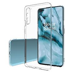 Cover Silicone Trasparente Ultra Sottile Morbida T02 per OnePlus Nord Chiaro