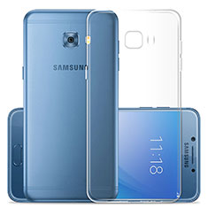 Cover Silicone Trasparente Ultra Sottile Morbida T02 per Samsung Galaxy C7 Pro C7010 Chiaro