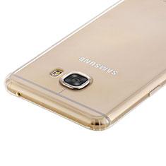 Cover Silicone Trasparente Ultra Sottile Morbida T02 per Samsung Galaxy C7 SM-C7000 Chiaro