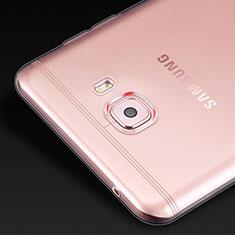 Cover Silicone Trasparente Ultra Sottile Morbida T02 per Samsung Galaxy C9 Pro C9000 Chiaro