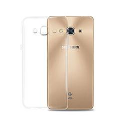 Cover Silicone Trasparente Ultra Sottile Morbida T02 per Samsung Galaxy J3 Pro (2016) J3110 Chiaro